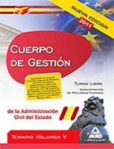 Trailab.it Cuerpo De Gestion De La Administracion Civil Del Estado. Temario Volumen V Image