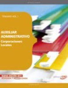 Costosdelaimpunidad.mx Auxiliar Administrativo De Corporaciones Locales. Temario Vol. I. Image