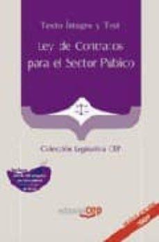 Chapultepecuno.mx Ley De Contratos Para El Sector Publico. Texto Integro Y Test (Co Leccion Legislativa Cep) Image