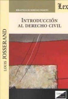 Descargar INTRODUCCION AL DERECHO CIVIL gratis pdf - leer online