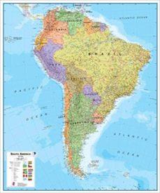 Mrnice.mx América Del Sur Política [Inglés] [120 X 100 Cm.] 1:7.000.000 Image