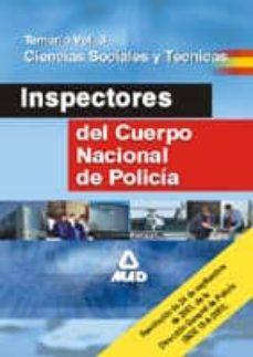 Carreracentenariometro.es Inspectores Del Cuerpo Nacional De Policia: Temario (Vol. Iii) Image