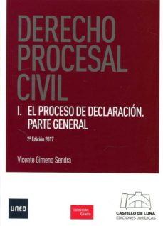 derecho procesal civil i: el proceso de declaracion. parte general-vicente gimeno sendra-9788494508844