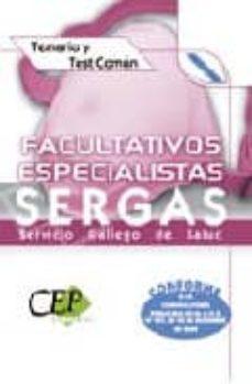 Srazceskychbohemu.cz Facultativos Especialistas Del Servicio Gallego De Salud Sergas. Temario Y Test Comun Image