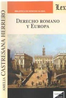 Descargar DERECHO ROMANO Y EUROPA gratis pdf - leer online