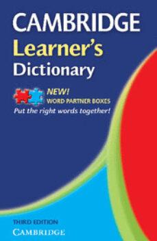 Cronouno.es Cambridge Learner S Dictionary (3rd Ed) Image