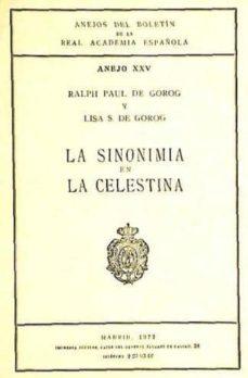 Emprende2020.es La Sinonimia En La Celestina (Ref: 1422960) Anejos Del Boletin De La Rae Image