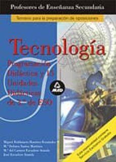 Viamistica.es Profesores De Enseñanza Secundaria: Tecnologia: Programacion Dida Ctica Y 15 Unidades De 3º De Eso (Temario Para La Preparacion De Oposiciones) Image