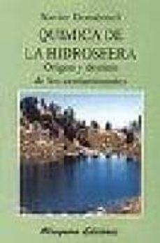 quimica de la hidrosfera: origen y destino de los contaminantes-xavier domenech antunez-9788478131464