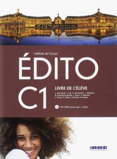 Descarga de archivos txt Ebook EDITO C1 ELEVE+DVD ROM 2º BACHILLERATO ED. 2018 de  PDF RTF 9788490492864