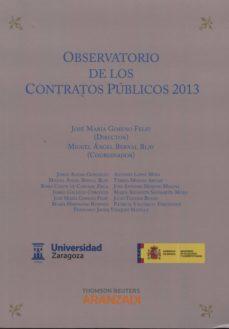 observatorio de los contratos públicos, 2013-jose maria gomeno feliu-9788490597064