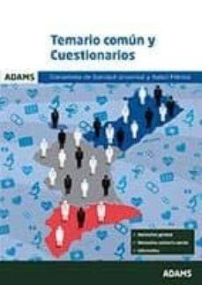 conselleria de sanidad universal y salud publica: temario comun y cuestionarios-9788490848364