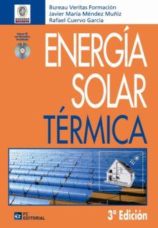 Iphone libros pdf descarga gratuita ENERGIA SOLAR TERMICA (INCLUYE CD-R) (3ª ED) in Spanish 9788492735464