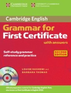 Descargar CAMBRIDGE GRAMMAR FOR FIRST CERTIFICATE WITH ANSWERS AND AUDIO CD gratis pdf - leer online