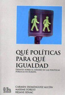 Carreracentenariometro.es Que Políticas Para Que Igualdad: Debates Sobre El Genero En Las P Oliticas Publicas En Europa Image