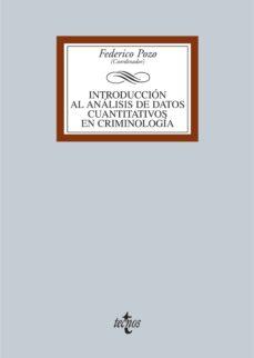 Introducción Al Análisis De Datos Cuantitativos En Criminología Ebook Vv Aa Descargar Libro Pdf O Epub 9788430958474