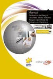 Chapultepecuno.mx Manual De Prevencion De Riesgos Laborales: Sector Industria: Ries Gos Especificos Del Trabajo Con Ceramica: Formacion Para El Empleo Image
