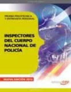 Premioinnovacionsanitaria.es Inspectores Del Cuerpo Nacional De Policia. Prueba Psicotecnica Y Entrevista Personal Image