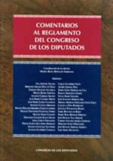 comentarios al reglamento del congreso de los diputados-maria rosa ripolles serrano-9788479434274