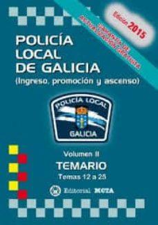 Inmaswan.es Policía Local De Galicia Volumen Ii (Temario) Temas 13 A 26 Image