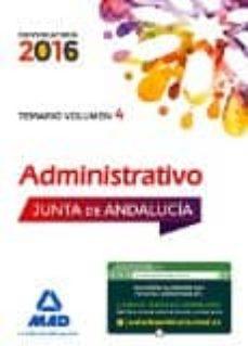 Bressoamisuradi.it Administrativos De La Junta De Andalucía Turno Libre. Temario Volumen 4 Image