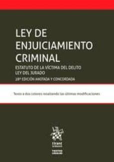 Descargar LEY DE ENJUICIAMIENTO CRIMINAL gratis pdf - leer online