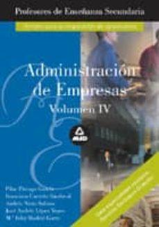 Carreracentenariometro.es Profesores De Enseñanza Secundaria: Administracion De Empresas (V Ol. Iv) Image
