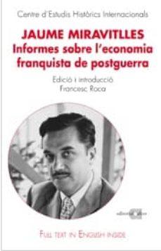 Bressoamisuradi.it Jaume Miravitlles: Informes Sobre L Economia Franquista De Postgu Erra Image