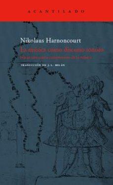 la musica como discurso sonoro-nikolaus harnoncourt-9788496136984