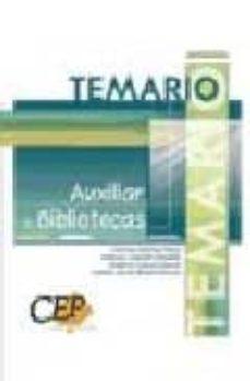 Mrnice.mx Auxiliar De Bibliotecas: Temario Image