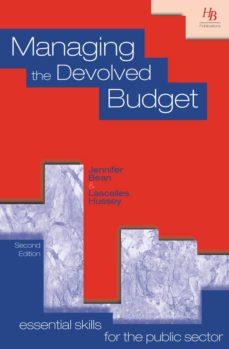managing the devolved budget (ebook)-jennifer bean-lascelles hussey-9781899448494