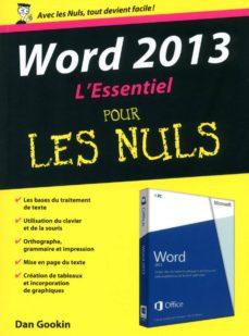 word 2013 essentiel pour les nuls (ebook)-dan gookin-9782754068994