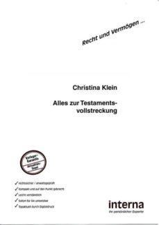 alles zur testamentsvollstreckung (ebook)-christina klein-9783940931894