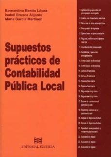 Descargar SUPUESTOS PRACTICOS DE CONTABILIDAD PUBLICA LOCAL gratis pdf - leer online