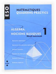 Valentifaineros20015.es Matemàtiques. Quad. Pràctics. ÀLgebra 1. Nocions Bàsiques. Nivell Intermedi 1º Eso Catala Image