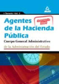 Inmaswan.es Agentes De La Hacienda Publica. Cuerpo General Administrativo De La Administracion Del Estado: Temario (Vol. Ii) Image