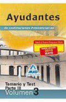 Iguanabus.es Ayudantes De Instituciones Penitenciarias. Temario. Volumen Iii.t Emario Y Test De La Parte Iii Image