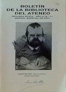 BOLETÍN DE LA BIBLIOTECA DEL ATENEO. LEOPOLDO ALAS CLARÍN - VARIOS |