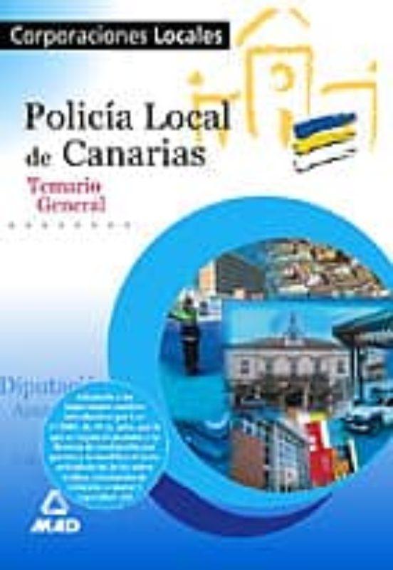 POLICIA LOCAL DE CANARIAS. TEMARIO GENERAL