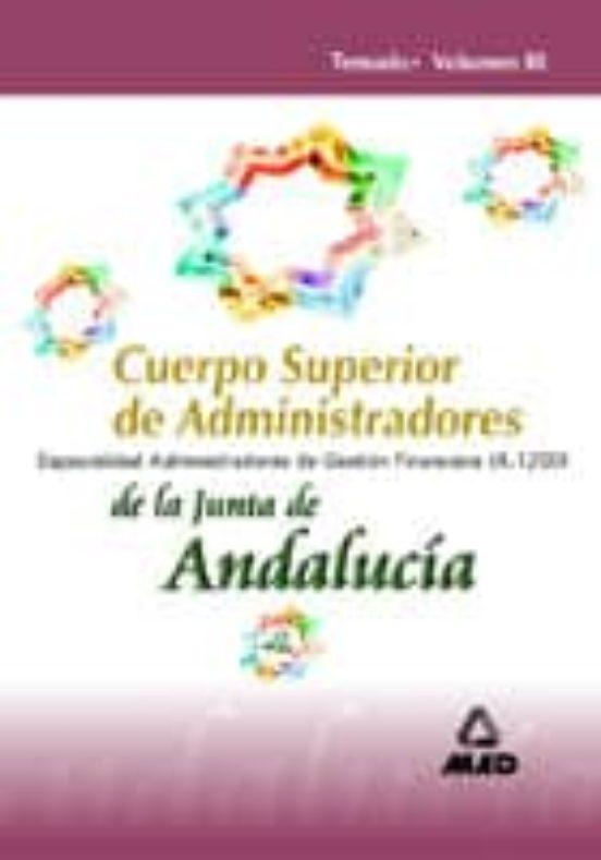 CUERPO SUPERIOR DE ADMINISTRADORES DE LA JUNTA DE ANDALUCIA:_ESPE CIALIDAD ADMINISTRADORES DE GESTION FINANCIERA (A1200)