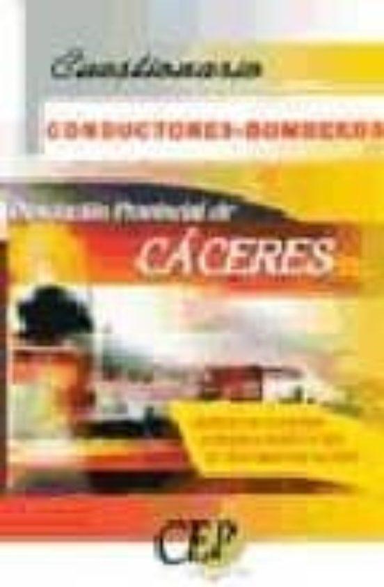 CONDUCTORES-BOMBEROS DE LA DIPUTACION PROVINCIAL DE CACERES: CUES TIONARIO