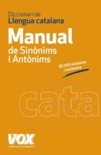 diccionari manual de llengua catalana: sinonims i antonims (2ª ed )-9788499740454