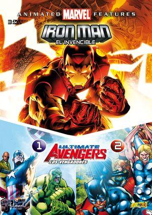 marvel: iron man, el invencible + ultimate avengers i y ii (dvd)-8421394540958