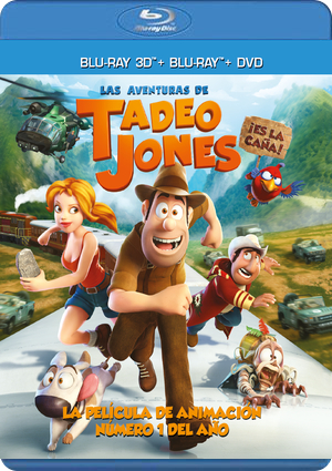 las aventuras de tadeo jones (blu-ray 3d+2d+dvd)-8414533094382
