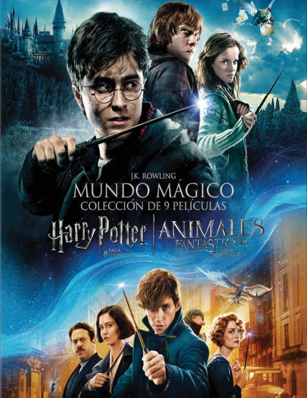 PACK HARRY POTTER (1-8) + ANIMALES FANTÁSTICOS - DVD - de Chris ...